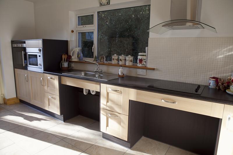Shaker Light Oak With Nakuru Wenge Panelling Parle Furniture