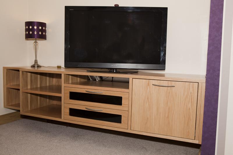 Oak Mediastorage Unit Parle Furniture